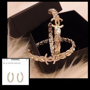 FIRM- Chanel Crystal Hoop Earrings!